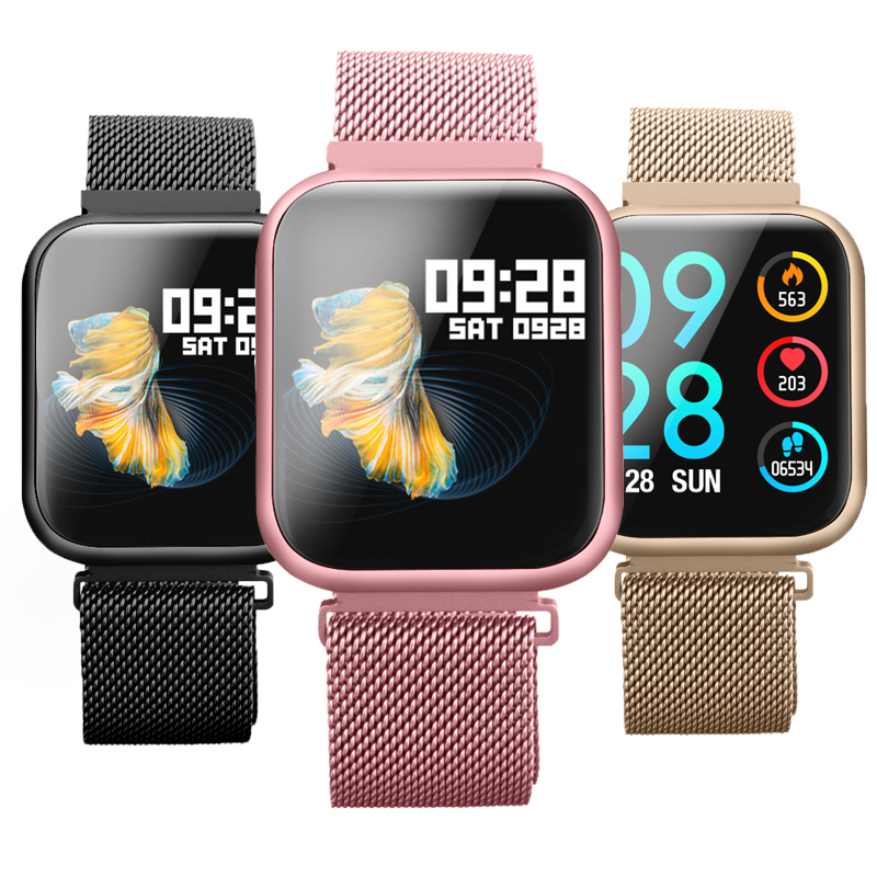 Wearpai P80 Смарт часы монитор сердечного ритма, Блютуз, умный Браслет напоминание шагомер Фитнес трекер спортивные для телефона|Смарт-браслеты| | АлиЭкспресс