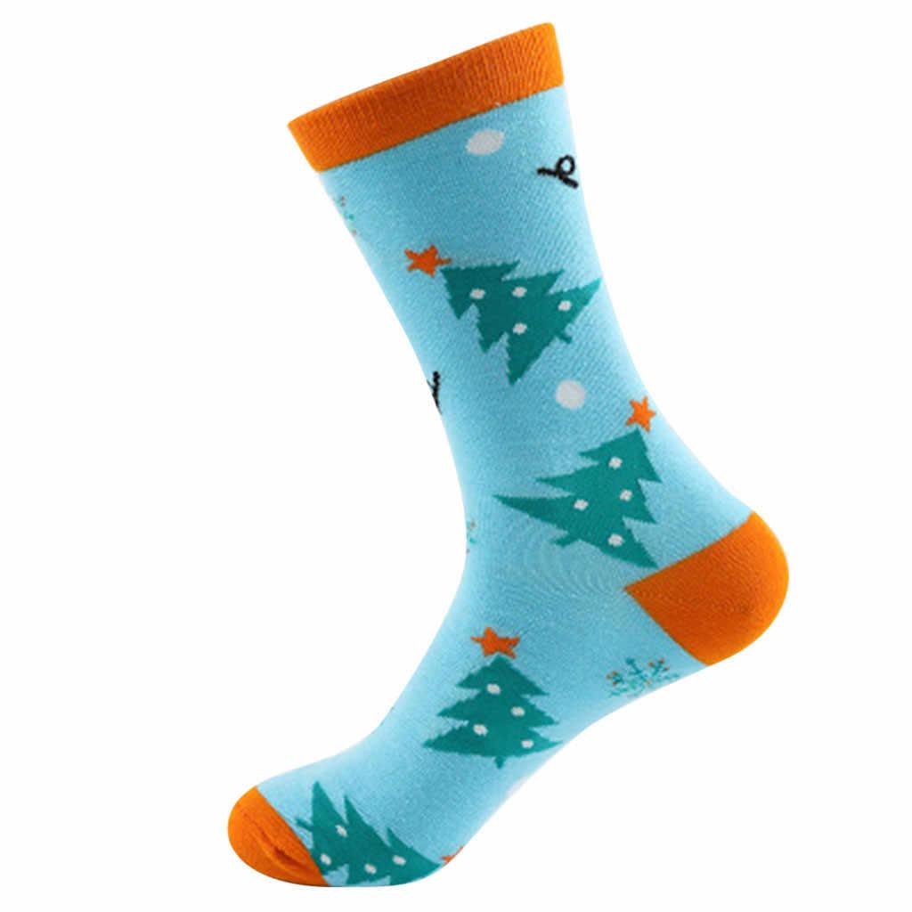2019 skarpety świąteczne damskie damskie ciepłe skarpetki z bałwanem na co dzień bawełniane skarpetki Stocke calcetines mujer новогодние носки # AA20