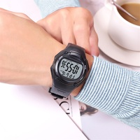 Synoke chronograph men relógios digital esporte 3bar resistente a choques repetidor acrílico volta luz moda simples homem relógio de pulso 5