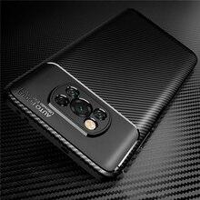 Için pocophone x3pro kılıfı karbon fiber telefon kapak poco küçük poco x3 x 3 pro pocox3 nfc 2021 yumuşak silikon darbeye dayanıklı coque