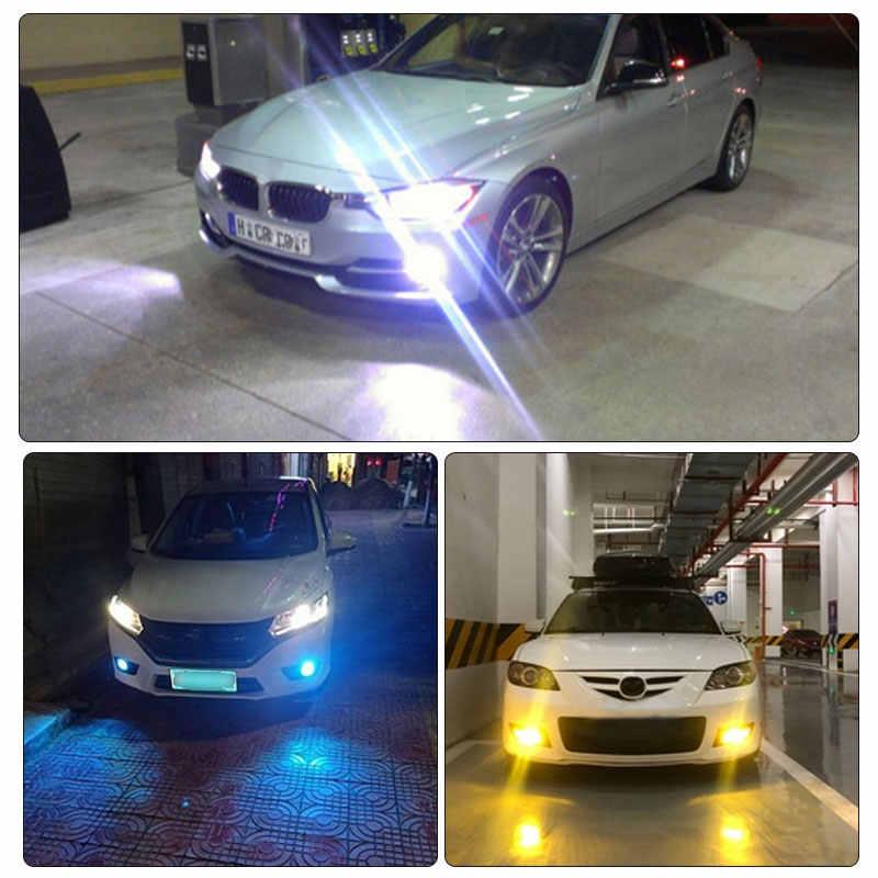Bombillas LED H1 para coche, 2 uds., luces LED antiniebla diurnas de 2000LM, luces exteriores para conducción diurna, blancas, 6000K, amarillas, 12V