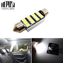 цена на 1pcs Festoon CANBUS 31mm 36mm 39mm 41mm C5W led ERROR FREE 2835 LED smd interior reading white bulbs dome lamps Car Styling