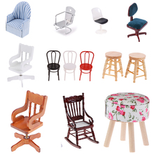 1:12 Multifunctional Chair Model For Dolls House Furniture For Dolls Mini Chair Toys For Children Dollhouse Miniature цена и фото