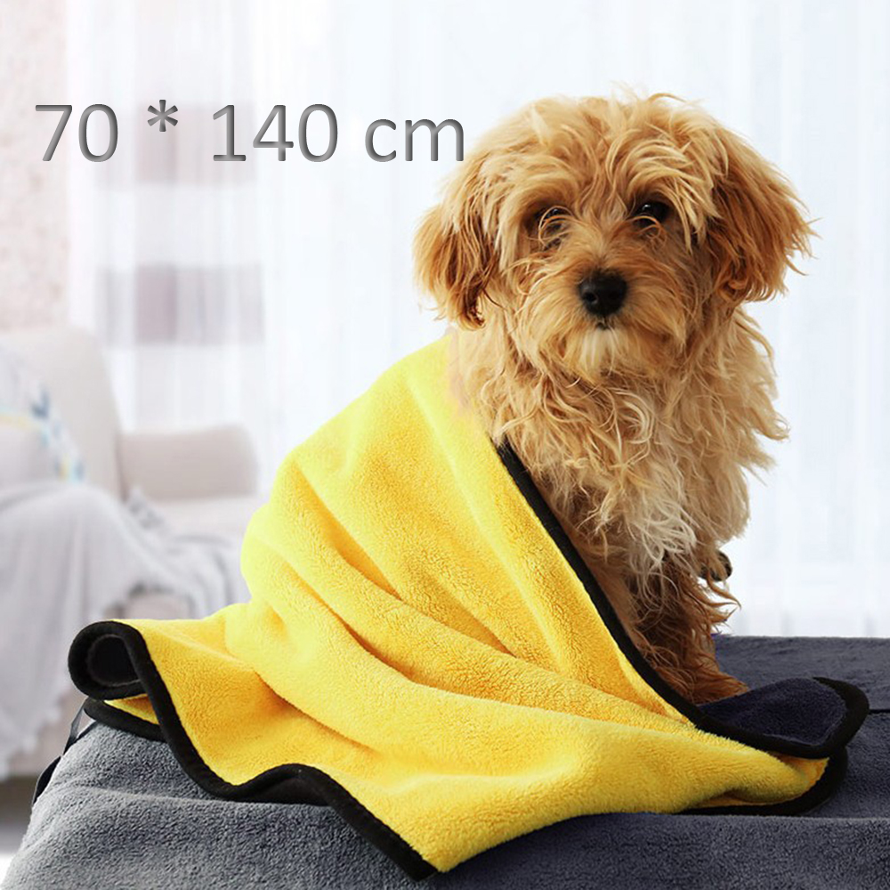 Cute Pet Dog Cat Towel Pets Drying Bath Towels with Hoodies Warm Blanket Soft Drying Cartoon Puppy Super Absorbent Bathrobes 18