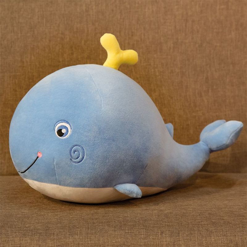 Aquatic Whale Stuffed Doll Pink/Blue Plush Spraying Water Shy Whales Toy Cuddly Kids Boys Girls Plushie Gift Just6F