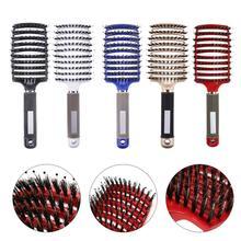 Hair Brush Girls Scalp Massage Comb Bristle&Nylon Women Wet Curly Detangle Hair Brush for Salon Hairdressing Styling Tools