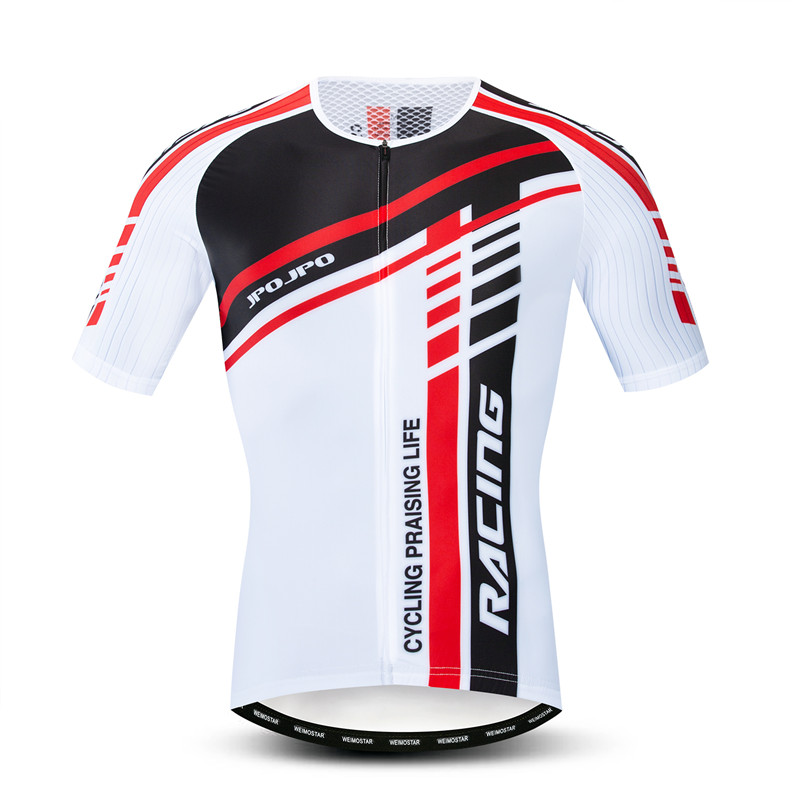 JPOJPO Team Sport Cycling Jersey Men Summer Short Sleeve Racing Cycling Shirt Breathable Mountain Bike Jersey Bicycle Clothes
