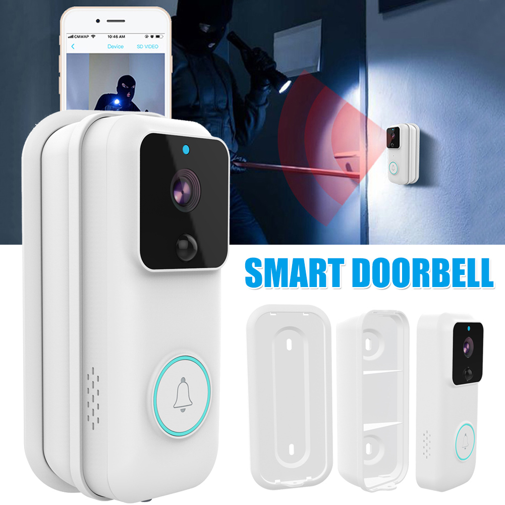 High Smart Doorbell Wireless WiFi 1080P Remote Monitoring Video Voice Two-way Intercom Anti-theft Video Doorbell UEJ
