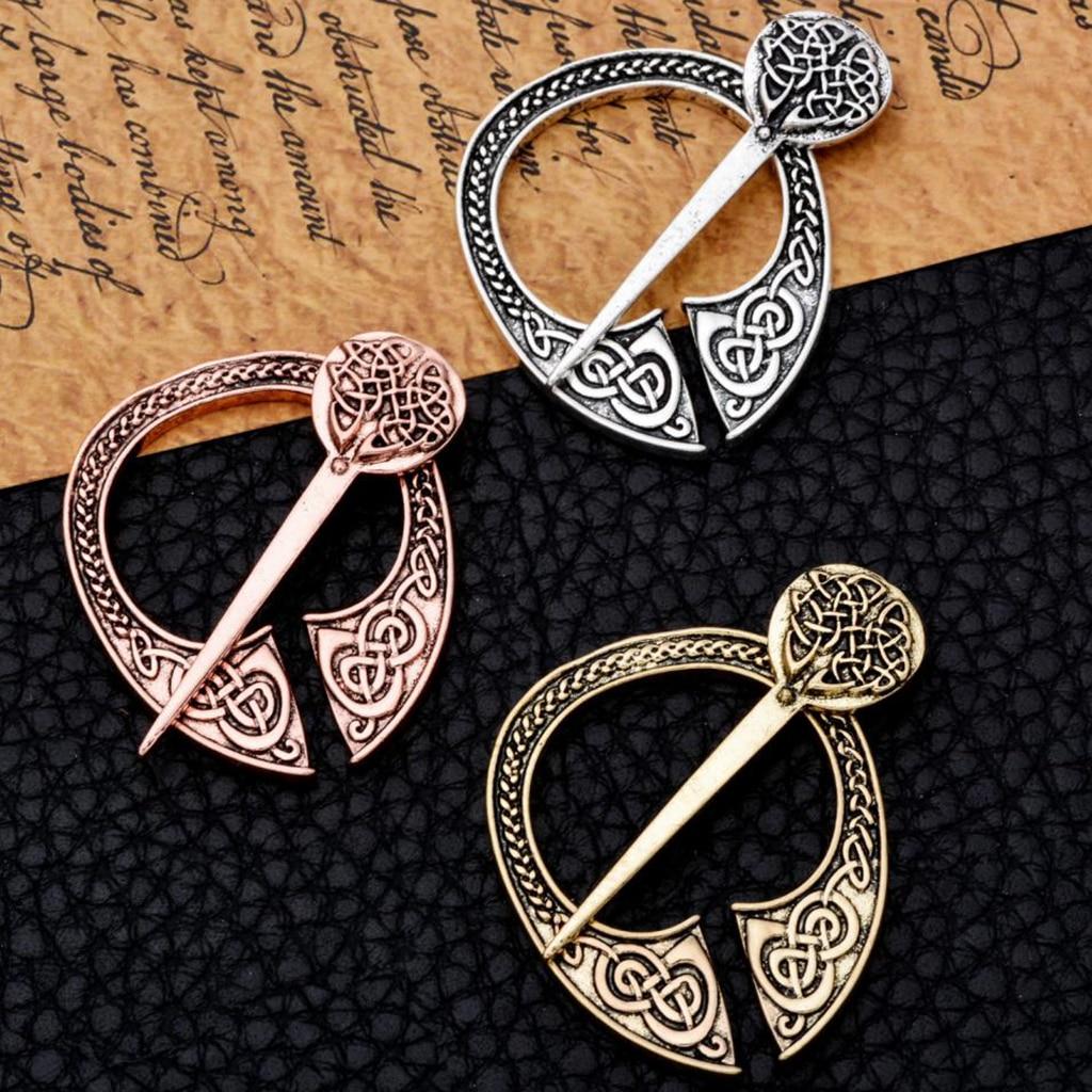 Norse Jewelry Scarf Pin Shawl Pin Bronze Irish Viking Penannular Brooch Clothes Fasteners Cloak Pin