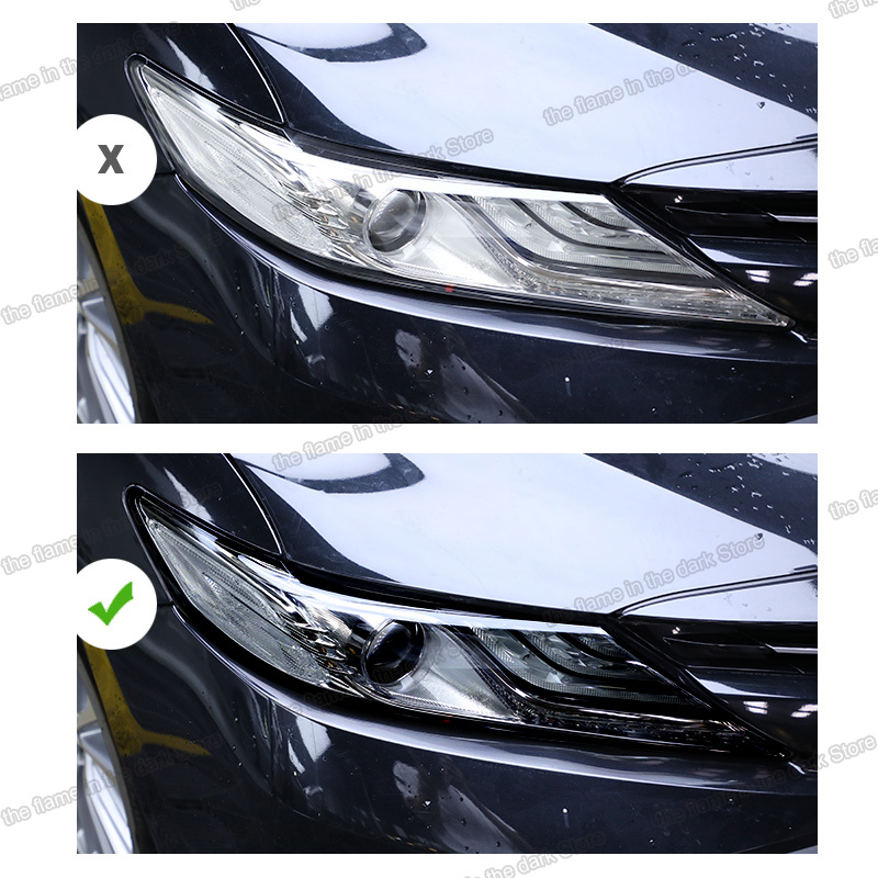 Lsrtw2017 TPU Car Transparent Black Headlight Film Anti-scratch Protective Sticker For Toyota Camry 2018 2019 2020 5th XV70