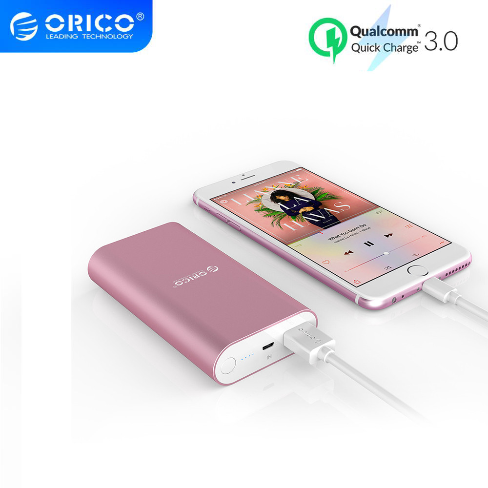 ORICO Power Bank Fast Charge QC3.0 Quick Charger Powerbank 10000mAh External Battery For iphone Xiaomi Cellular Phone