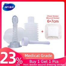 Irrigador vaginal reutilizável, seringa de pvc retrátil para higiene feminina, limpador de enema