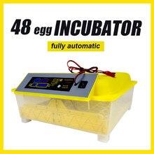 HHD 48 incubadora de ovos totalmente automática Exibição de temperatura da fazenda Máquina de incubação de aves Chocadeira de codornas de frango frete grátis