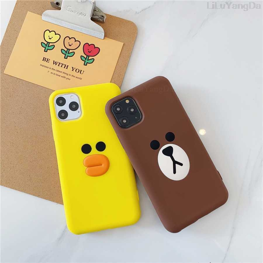 3D Cute Cartoon Sally Chick etui na telefon dla iPhone 6 6s 7 8 Plus X XR XS 11 Pro Max miękkie silikonowe etui gumowe Fundas Coque