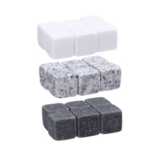6 шт. натуральный ледяной Ликер Виски ледяной камень винный напиток холодильник куб виски рок гранит многоразовая Замена кубик льда камень