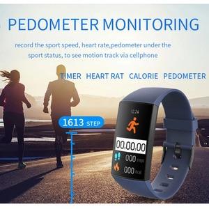 Image 4 - Pulsera deportiva GIMTO, medición de presión y Monitor de pulso, reloj inteligente para hombres, pulsera de seguimiento de actividad, recordatorio de llamada