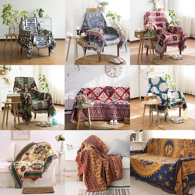 одеяло в стиле ретро покрывало для путешествий европейском дивана фотография