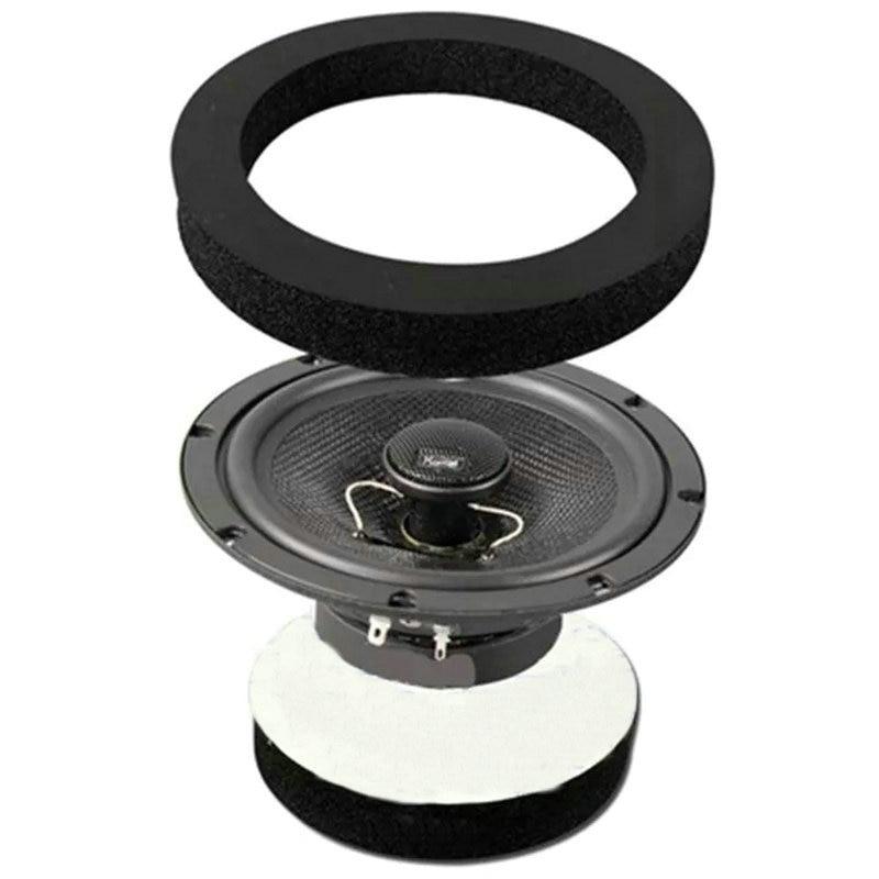 Black FAST Foam Rings Car Door Speaker Enhancer System Kit 4PCS//Set New