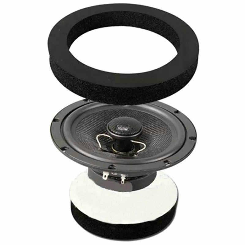 """1 adet 6 """"6.5"""" inç araba evrensel hoparlör yalıtım halkası ses geçirmez pamuklu ped bas kapı pervazı ses hoparlörler kendinden yapıştırıcı"""