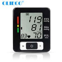OLIECO Automatic Digital Wrist Blood Pressure Monitor LCD Display Heat Beat Tonometer Pulse Rate Heart Monitor Sphygmomanometer
