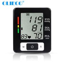 OLIECO التلقائي معصم رقمية ضغط الدم شاشة عرض بلورية الحرارة فاز مقياس التوتر نبض معدل شاشة قياس القلب مقياس ضغط الدم