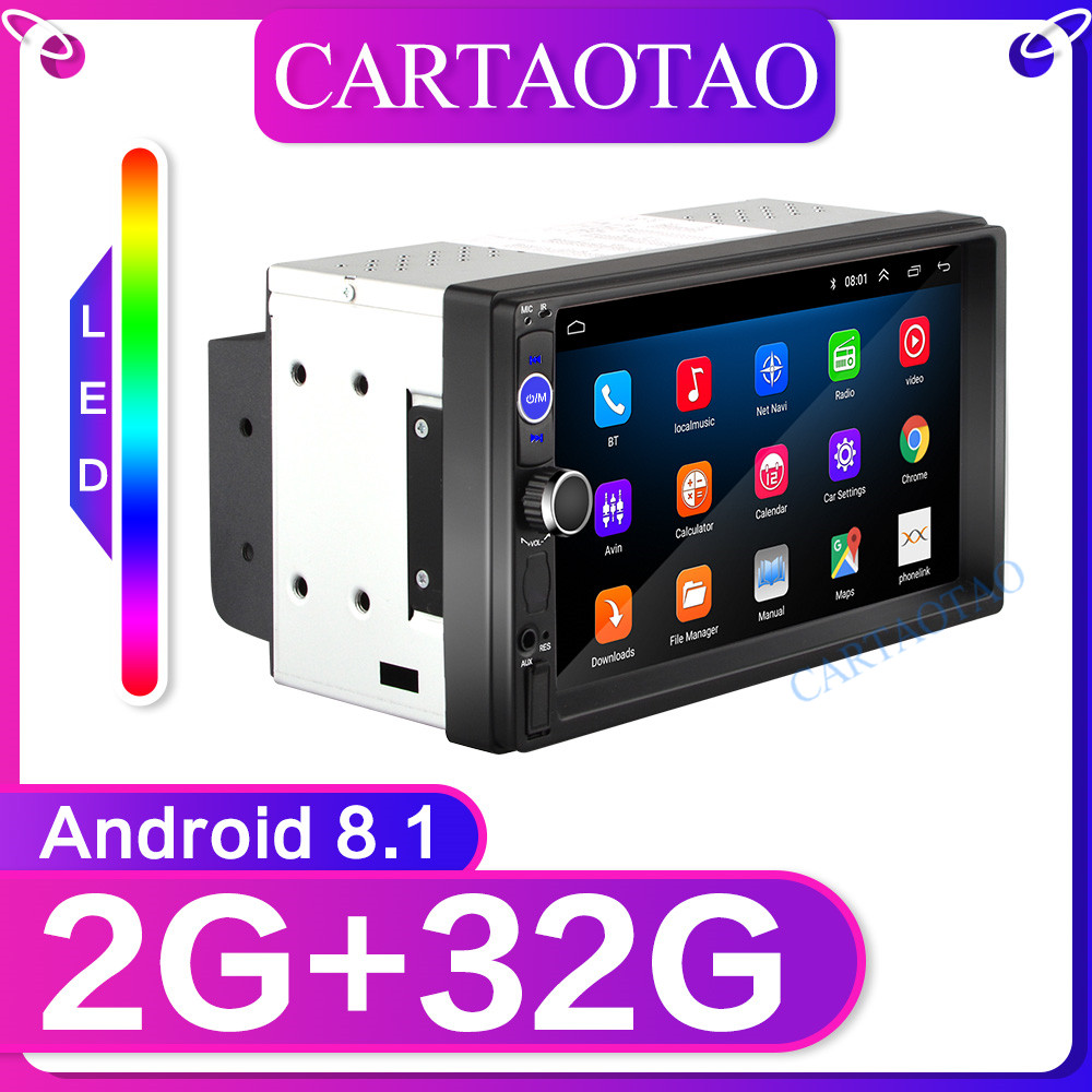 7'' Android Radio Car Stereo MP5 Bluetooth USB SD 2 Din GPS  Car Radio BT WIFI  Car Multimedia Player Autoradio RAM 2G+ ROM 32G