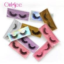 Natural 3D Mink Lashes 8-14mm Makeup Eyelashes For Daily Wear False Eyelashes Reusable Fluffy Fake Lashes For Wholesale Girlglee