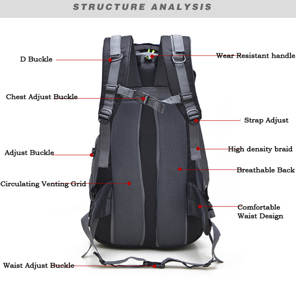 Image 4 - Outdoor Rucksack Camping Hiking Backpack Trekking 45L&50L Purple Waterproof Sports Bag Backpacks Bag Climbing Travel Rucksacksport bagclimbing bagrucksack travel -