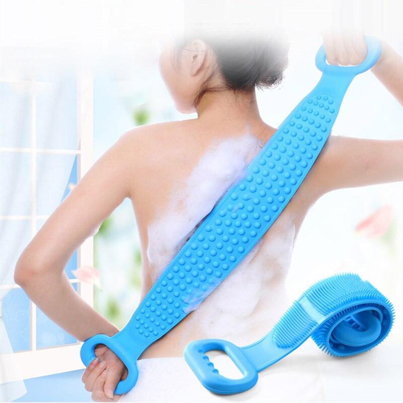 Magic Silicone Brushes Bath Towels Rubbing Back Mud Peeling Body ...