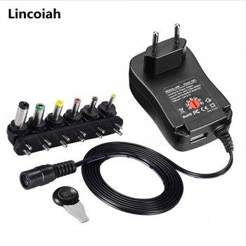 1 sztuk 3V 4.5V 5V 6V 7.5V 9V 12V 2A 2.5A AC/transformator dc Adapter regulowana moc uniwersalna ładowarka do LED listwa oświetleniowa