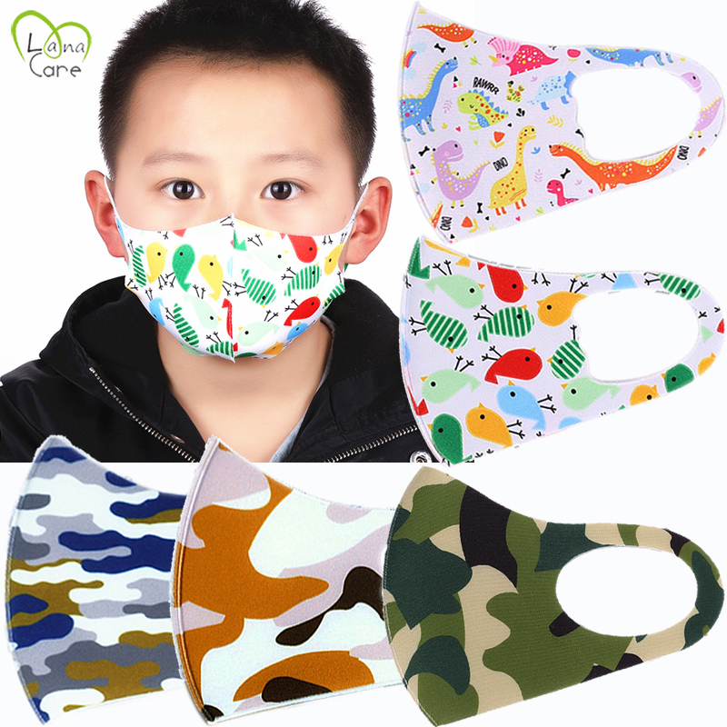 5PCS For 4-12 Years Old Kids Mouth MaskChildren Face Masks Washable & Reusable Student Kids Mouth Mask