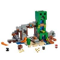 2019, мой мир, игрушки, криперы, шахты, совместимые с Legoines, мой мир, 21155, строительные блоки, фигурка, кирпич, Детский Рождественский подарок