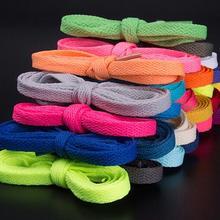 Полиэстер плоские цветные шнурки оптом и настраиваемый тренд 2 полоски/Набор для продажи
