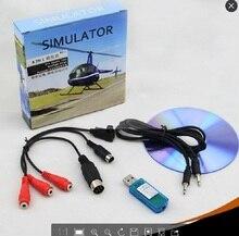 все цены на 8in1 USB Flight Simulator Cable Phoenix RealFlight G4,XTR,AeroFly,FMS for Futaba ESky JR WFLY 4-8Ch Skill Traning Free Shipping онлайн