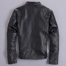 Men Jacket 2020 Real Short Motorcycle Genuine Autumn Coat Cowhide Leather Jackets Plus Size KJ2422(China)