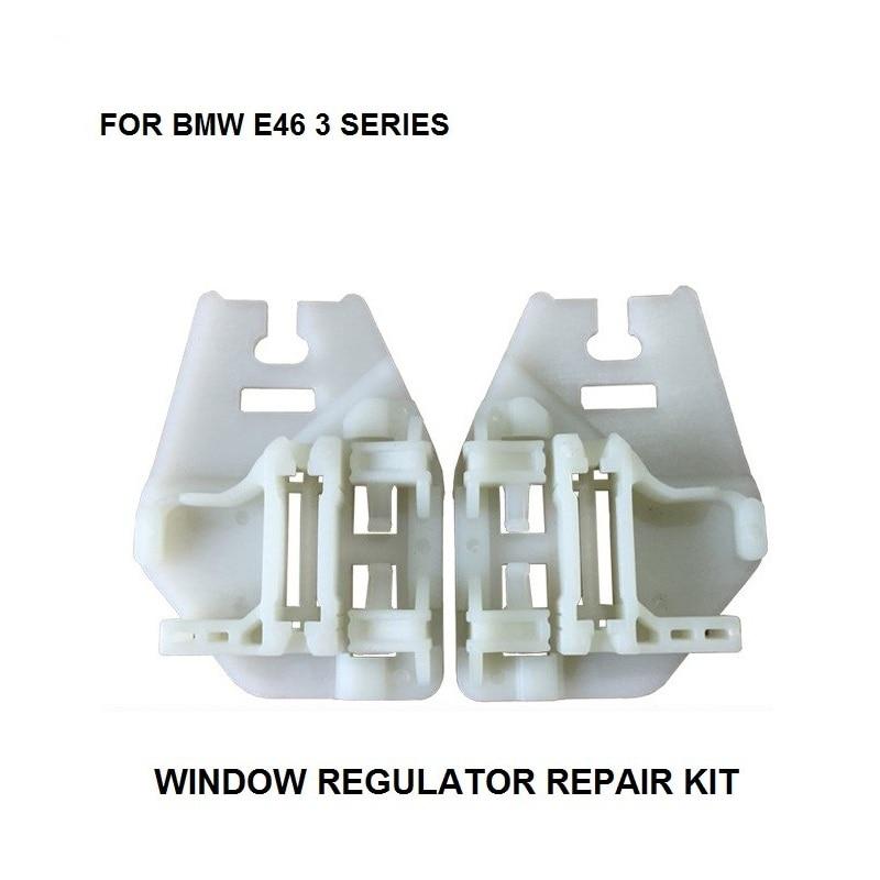X5 Set WINDOW SLIDER FOR BMW E46 TOURING WINDOW REGULATOR REPAIR CLIPS With PLASTIC SLIDER REAR LEFT-RIGHT SIDE 1998-2005