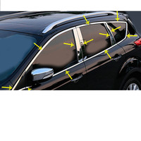 Car cover styling stick stainless steel glass window garnish pillar middle column strip trim For Ford Kuga 2017 2018 2019