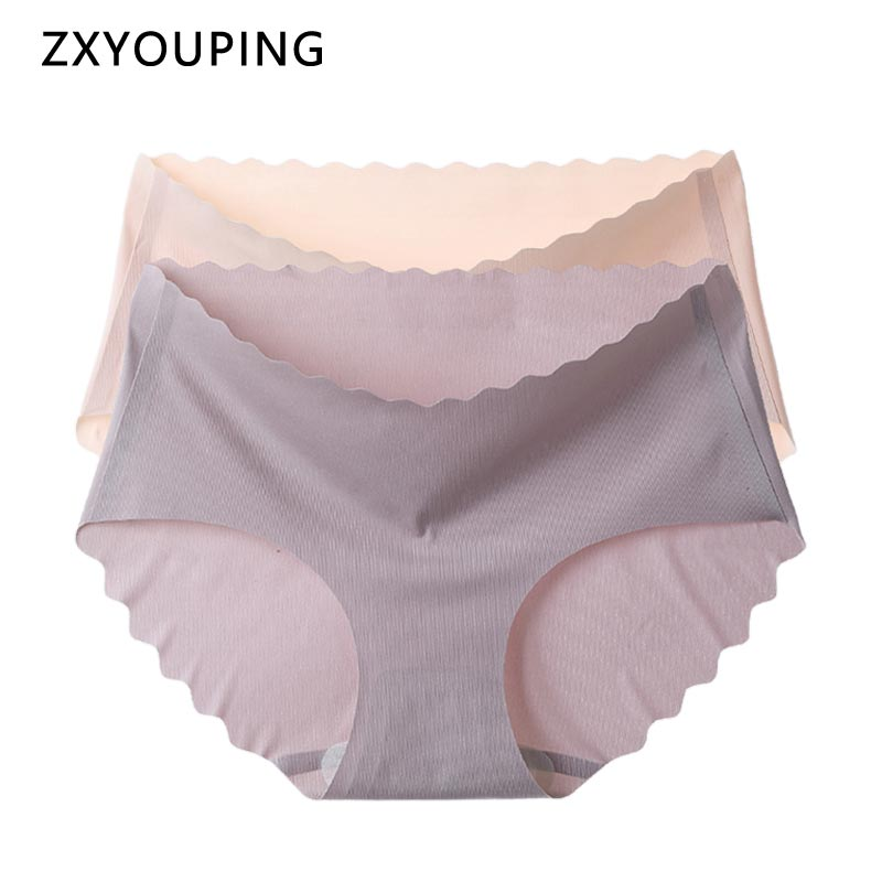 2020 Ice Silk Panties Women Sexy Seamless Briefs Ultra Thin Soft Underwear Comfortable Breathable Underpants Ladies Lingerie New