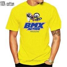 Ação bmx, revista, rampa, salto, estilo livre, corrida, bicicleta, haro, hutch, skyway, legal casual orgulho t camisa masculina unissex novo