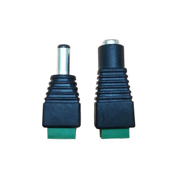 50pcs DC זכר 50pcs DC נקבה מחבר 2.1*5.5mm כוח שקע מתאם תקע כבל מחבר עבור 3528/5050/5730 led רצועת li