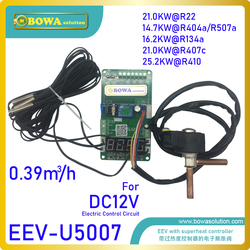 0.39m3/h EEV with 12Vdc controller & 4pcs NTC sensors matches 100~200cm3 cylinder volume open compressor for truck refrigeration