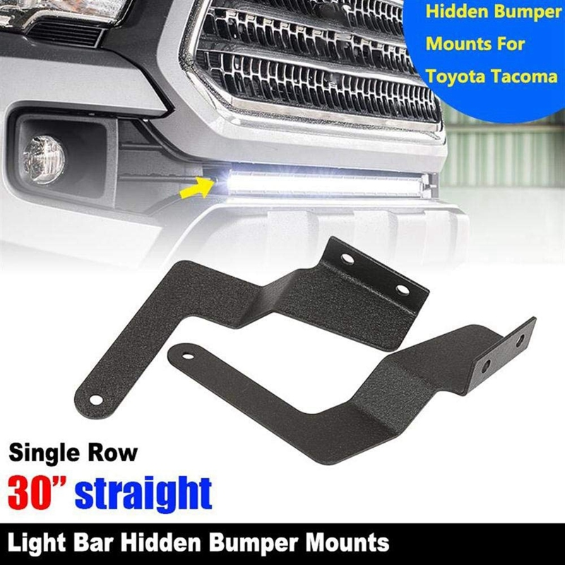 Pickup Lower Bumper Grille-Hidden Insert 30 Inch Single Or Dual Row LED Light Bar Mount Brackets For Toyota Tacoma 2005-2015 Toy
