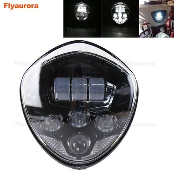 60W LED Headlight for Victory Motorcycle 2007-2015 Touring and Bagger with Bullet Style Headlight Waterproof 67 DOT Flyaurora