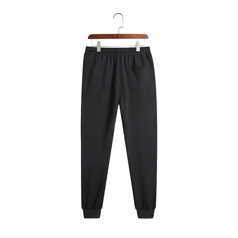 Men's Summer Korean Version Trend Easy Matching Solid Color Joggers Pants Loose And Comfortable Bottom Tied Ankle Length Pants