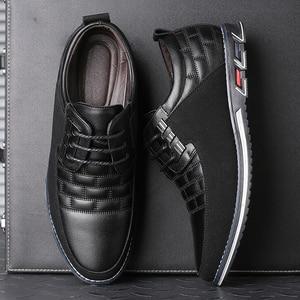 Image 4 - גודל גדול באיכות גבוהה נעליים יומיומיות גברים אופנה עסקי גברים נעליים יומיומיות מכירה לוהטת אביב לנשימה מזדמנים גברים נעליים שחור