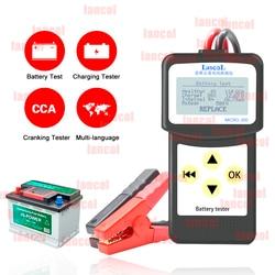 LANCOL MICRO200 tester akumulatora samochodowego jednostka pomiarowa Auto Tester narzędzia 12V wielojęzyczne samochodowe narzędzie diagnostyczne Tester samochodowy na
