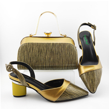 New Arrival Light Gold Italian Shoes and Bag Sets African hot sale Shoes and Bag Sets for Party In Women Italy Shoes new gold office shoe and bag set women shoes and bag set in italy design italian shoes with matching bag set wedding dress shoes