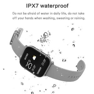 Image 5 - P8 חכם שעון גברים נשים 1.4 אינץ מגע מלא כושר גשש ספורט קצב לב צג IP67 עמיד למים עבור Xiaomi Amazfit GTS