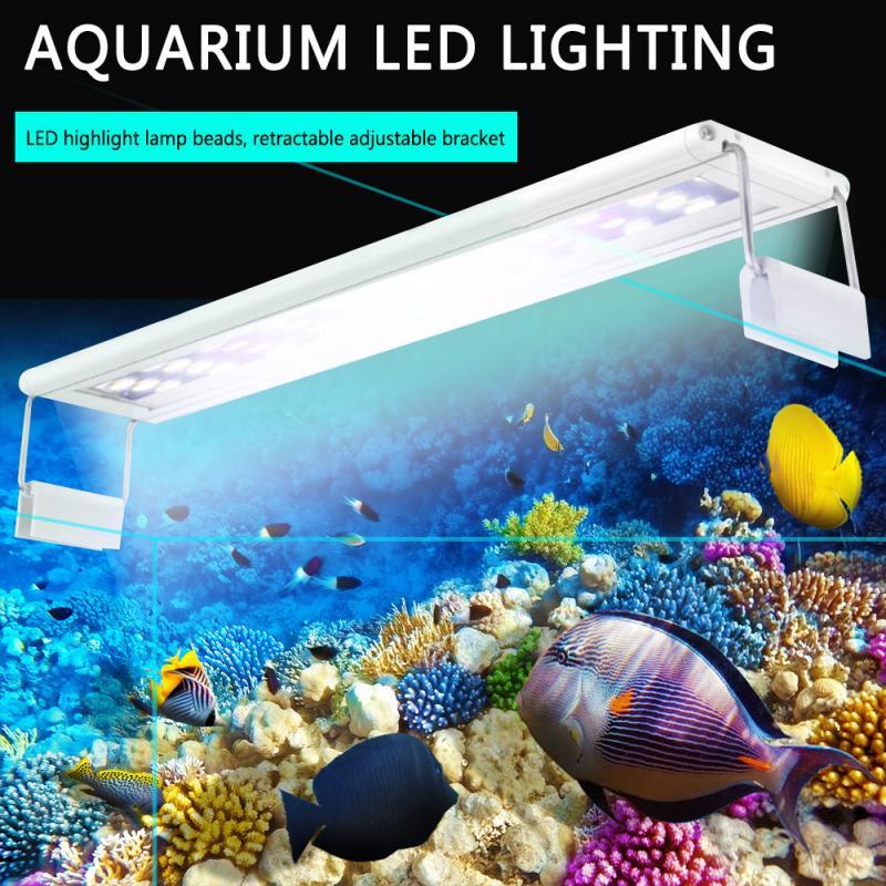 Super Slim Aquarium 20-40CM Extensible Waterproof Clip LED Lighting Lamp Bar Fish Aquatic Plant Tank Lights Over-Head Lamp