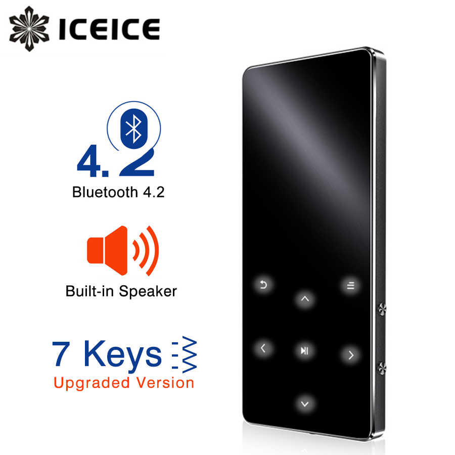 ICEICE MP3 Player Bluetooth hifi lossless mini music player with fm radio speaker headphones, sports MP 3 portable metal walkman